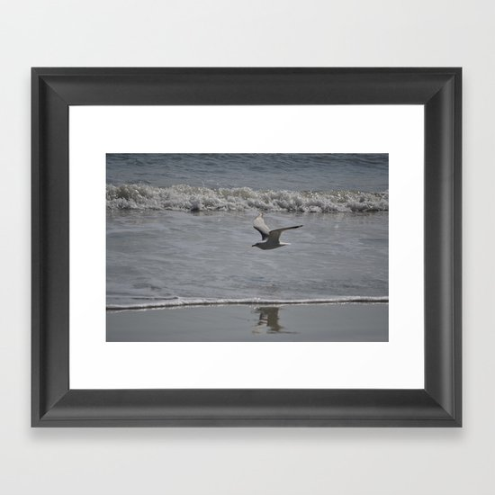 soaring above the wake Framed Art Print