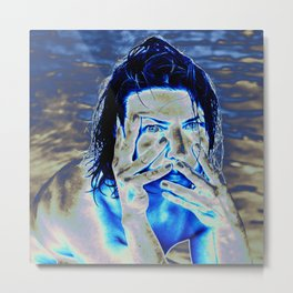 Expressive Portrait of NADJA Metal Print