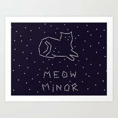 Cat Constellation (Meow Minor)  Art Print