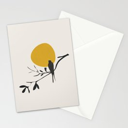 Bird and the Setting Sun Stationery Cards