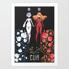 Schneeweibchen und Rosenrot Art Print
