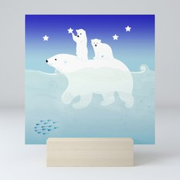 polar bears Mini Art Print