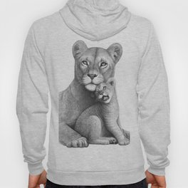 Lioness with a baby Hoody