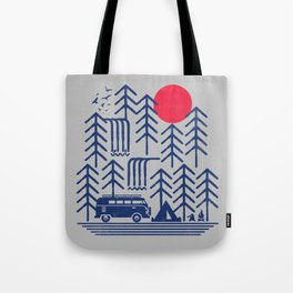 Camping Days / Van nature minimal birds sun Tote Bag