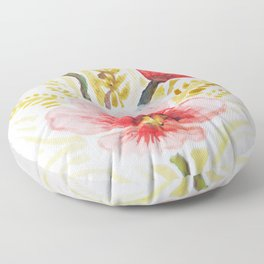 Poppies and wheat Floor Pillow