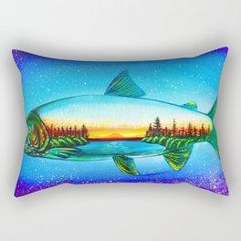 Steelhead sunrise Rectangular Pillow