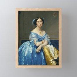 Princesse de Broglie - Jean Auguste Dominique Ingres Framed Mini Art Print
