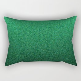 Green and Black Static Ombre Rectangular Pillow