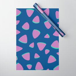 Abstract Graphic Pattern | Blue | Pink | Green Wrapping Paper
