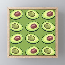 Avocado on green Framed Mini Art Print