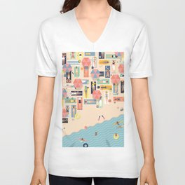 Summertime Unisex V-Neck