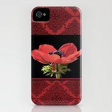 Red Anenome Slim Case iPhone (4, 4s)