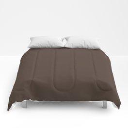 Sherwin Williams Trending Colors of 2019 Dark Clove (Dark Brown) SW 9183 Solid Color Comforters