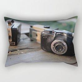 Retro Cameras Rectangular Pillow