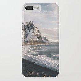 Stokksnes Icelandic Mountain Beach Sunset - Landscape Photography iPhone Case