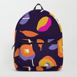 Abstract Dancing Poppies Backpack