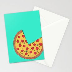 Pizza Pie Chart Stationery Cards