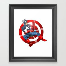 Captain America - Win or Lose Framed Art Print