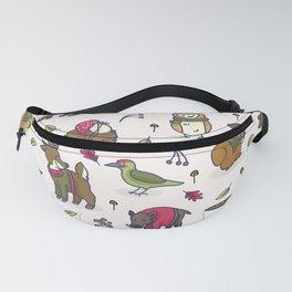 Cute woodland animal cartoon seamless pattern Fanny Pack