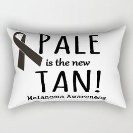 Pale is the New Tan Melanoma Awareness Rectangular Pillow