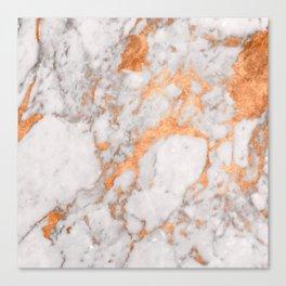 Copper Marble Canvas Print