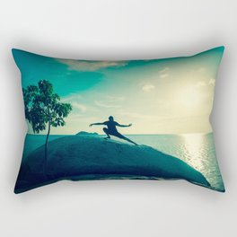 Turquoise Tai Chi Rectangular Pillow
