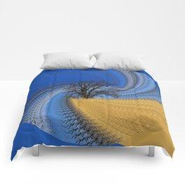 Prairie oak swirl Comforters