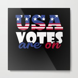 Lovable Votes Of Delightful America Illustration Metal Print