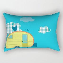 Chicken Camp Rectangular Pillow