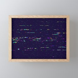 Grunge glitchy texture with tv screens Framed Mini Art Print