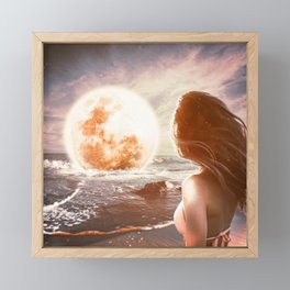 For You, I'd Pull The Moon From the Sky Framed Mini Art Print