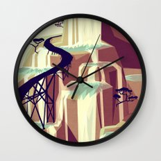 The black bridge Wall Clock