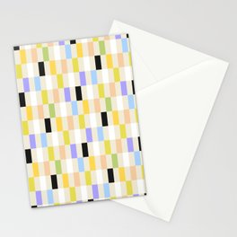 Multi-Color Check Stationery Cards