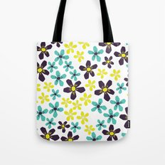 Yellow and Blue Flower Tote Bag