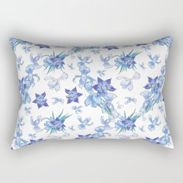 Purity of blue orchids - chic decor Rectangular Pillow