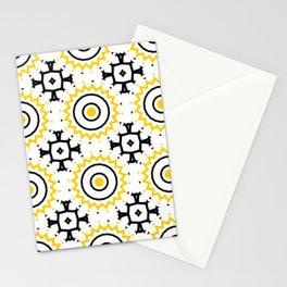 The Sun Moroccan Tiles Pattern Yellow Stationery Cards
