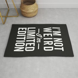 I'm Limited Edition Funny Quote Rug