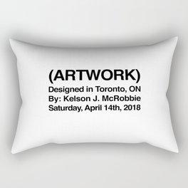 (ARTWORK) White Rectangular Pillow