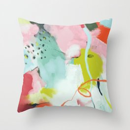 landscape in spring Throw Pillow
