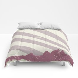 Town Silhouette Grunge Comforters