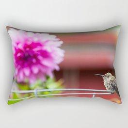 Meal Planning For Hummingbirds Rectangular Pillow