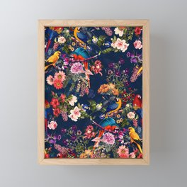 FLORAL AND BIRDS XII Framed Mini Art Print