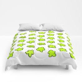 Meeple Mania Lime Pattern Comforters