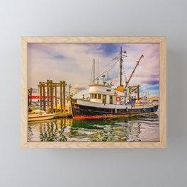 Old Fishing Trawler Framed Mini Art Print