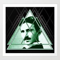 Tri-Tesla Art Print