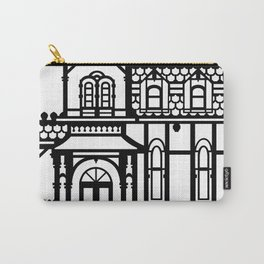 Old Victorian House - black & white Carry-All Pouch