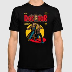 Doctor Comic X-LARGE Black Mens Fitted Tee