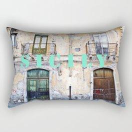 Antique Facade - Sicily Rectangular Pillow