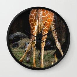Baby Giraffe Butt Wall Clock