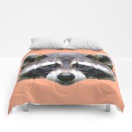 Raccoon // Apricot / Peach Comforters